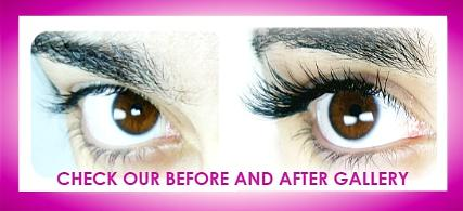 Before After WEST LONDON LASHES individual extensions