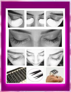 eyelash extension treatment application