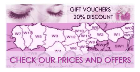 DISCOUNT OFFERS WEST LONDON LASHES