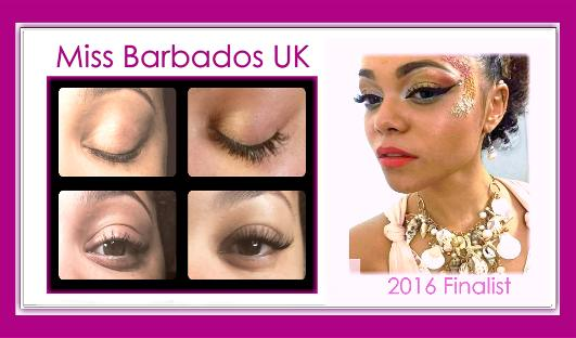 West London Lashes Miss Barbados UK Beauty